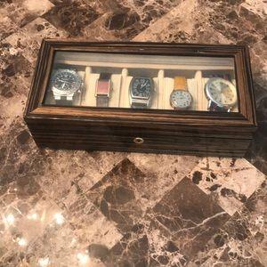 Other - Zebra Wood Watch Box